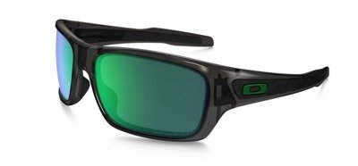 Oakley Okulary TURBINE Grey Smoke/Jade Iridium Polarized OO9263-09