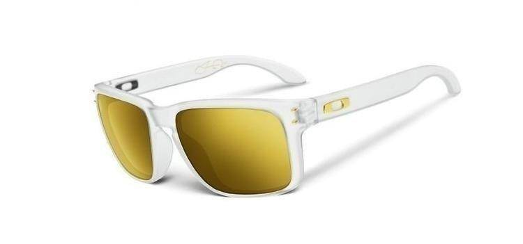 Oakley Okulary Shaun White HOLBROOK Matte Clear / 24K Iridium Polarized OO9102-42