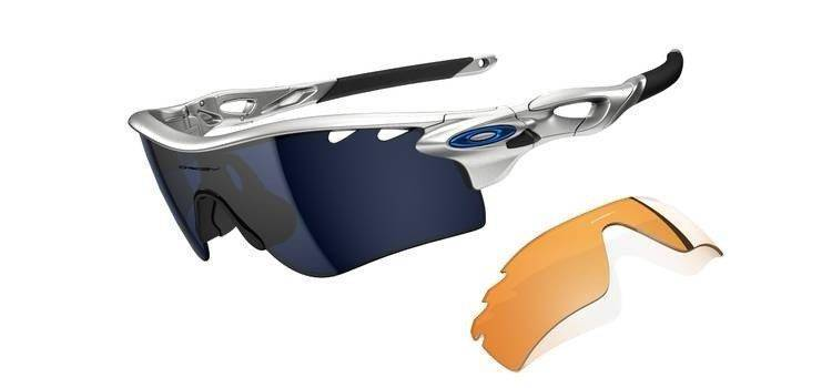 Oakley Sunglasses RADARLOCK PATH Silver/Ice Iridium Vented & Persimmon Vented OO9181-03