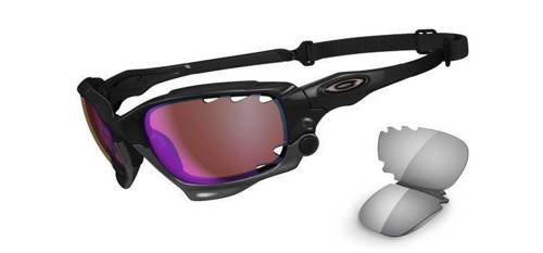 Oakley Okulary RACING JACKET Polished Black/VR28 Blue Iridium & Light Grey OO9171-05