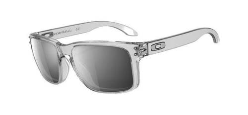 Oakley Sunglasses  HOLBROOK Polished Clear/Chrome Iridium OO9102-06