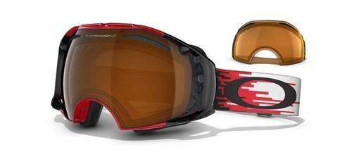 OAKLEY Gogle AIRBRAKE Hyperdrive Red-Black/Black Iridium & Persimmon 59-123