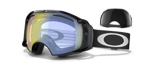 OAKLEY Gogle AIRBRAKE Jet Black/H.I. Yellow & Dark Grey 57-463