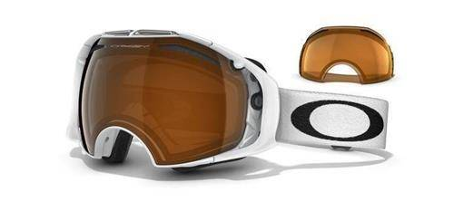 OAKLEY Gogle AIRBRAKE Polished White/Black Iridium & Persimmon 57-459