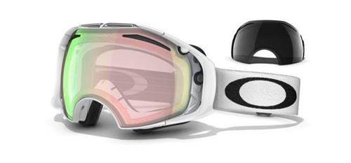 OAKLEY Gogle AIRBRAKE Polished White/H.I. Yellow & Dark Grey 57-394