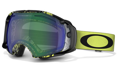 Oakley Gogle AIRBRAKE Topography Lime / Jade&Persimmon 59-489