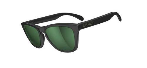 Oakley Okulary Frogskins Matte Black/Emerald Iridium Polarized 24-404