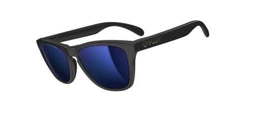Oakley Okulary Frogskins Matte Black/Ice Iridium Polarized 24-403