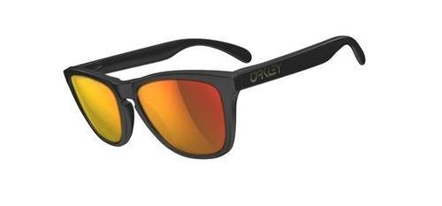 Oakley Okulary Frogskins Matte Black/Ruby Iridium Polarized 24-402