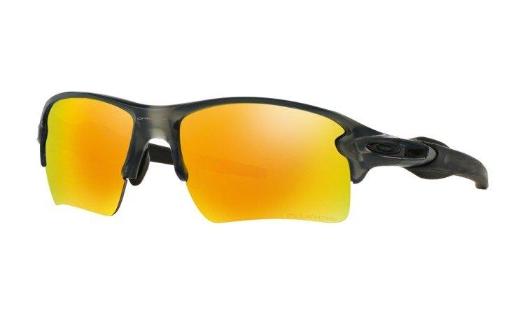 72e4aa36e7d OAKLEY Sunglasses FLAK 2.0 XL Matte Gray Smoke   Fire Iridium Polarized  OO9188-10 OO9188-10
