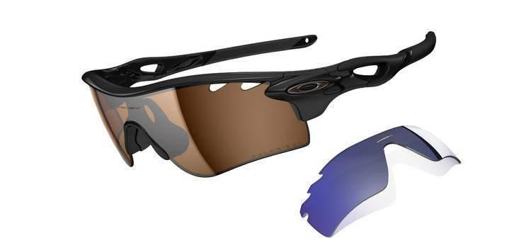 b90f8067a21 Oakley Sunglasses RADARLOCK PATH Polished Black Bronze Polarized Vented    Deep Blue Polarized Vented OO9181-25