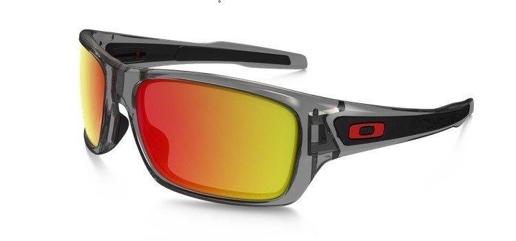 2e0f245258 Oakley Sunglasses TURBINE Grey Ink Ruby Iridium Polarized OO9263-10 OO9263- 10