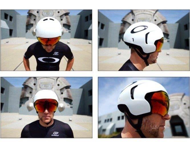 e6ab52dd5a ... Oakley ARO 7 Cycling Helmet - Polished White ...
