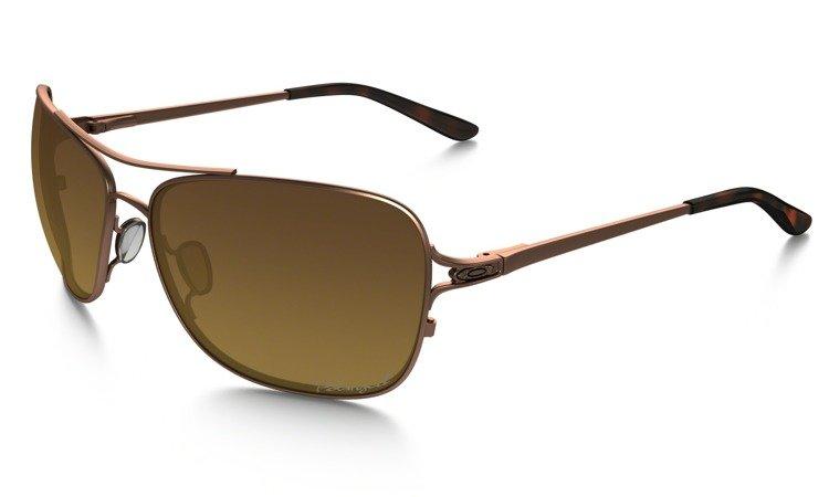 fece43f82a ... OAKLEY Sunglasses CONQUEST Satin Rose Gold   Brown Gradient Polarized  OO4101-01 ...
