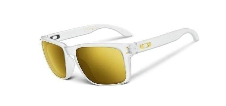 7cfa455d6a ... hot oakley sunglasses shaun white holbrook matte clear 24k iridium polarized  oo9102 42 a2b48 91bb2