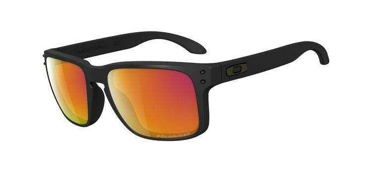 111566df219 Oakley Sunglasses HOLBROOK Matte Black Ruby Iridium Polarized OO9102-51  OO9102-51