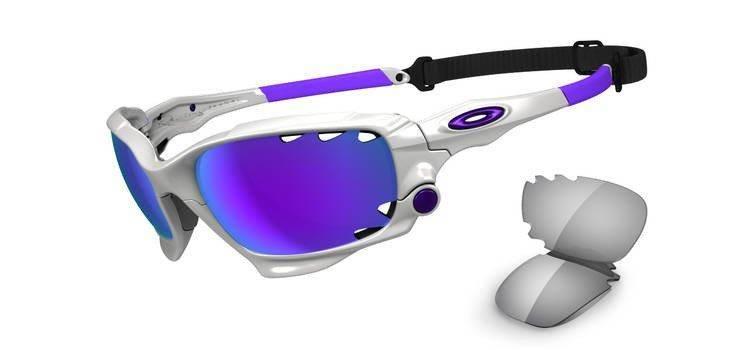 a74bd6bb1107 Oakley Sunglasses RACING JACKET Polished White Violet Iridium   Light Grey  OO9171-07 Oakley Sunglasses RACING JACKET Polished White Violet Iridium    Light ...