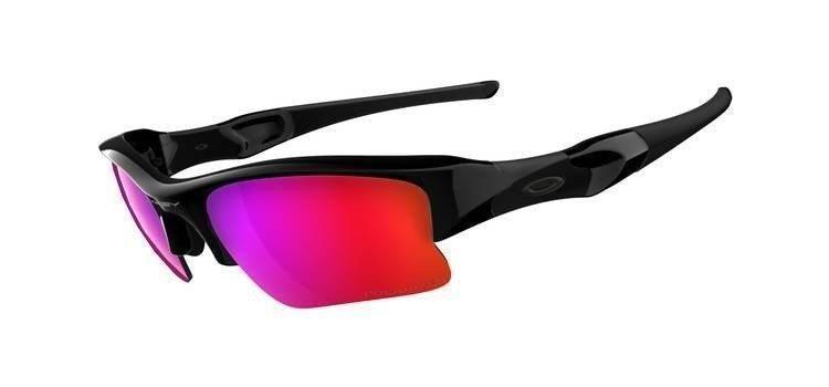 91d5d1491b3 Oakley Sunglasses FLAK JACKET XLJ Polished Black OO Red Iridium Polarized 26 -241