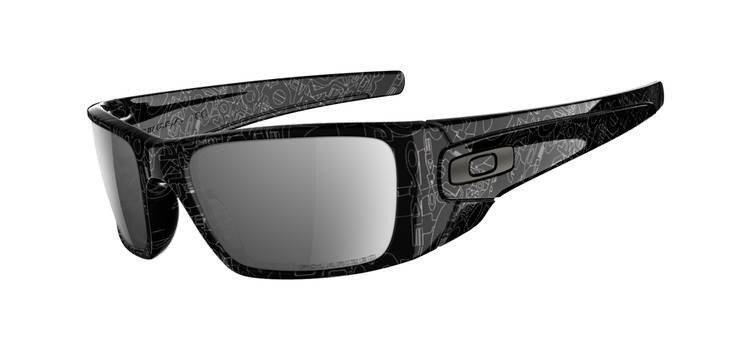 43f0670369a Oakley Sunglasses FUEL CELL Black Grey History Text Black Iridium Polarized  OO9096-07 ...