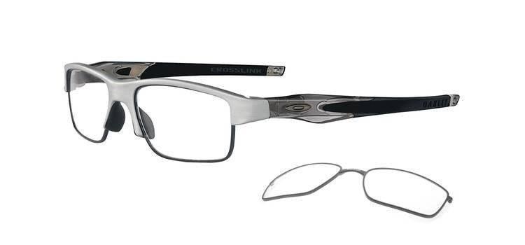 179a7656a24fa Oakley Optical frame Crosslink Switch Brushed aluminium demo lens OX3128-03  OX3128-03
