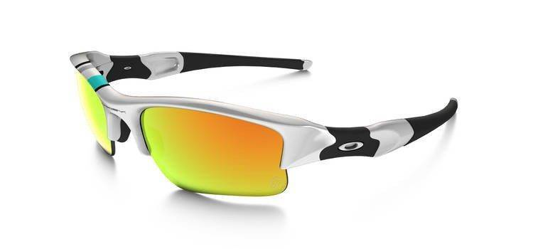 52abc95efa Oakley Sunglasses FLAK JACKET XLJ Polished White Fire Iridium 26-264 26-264