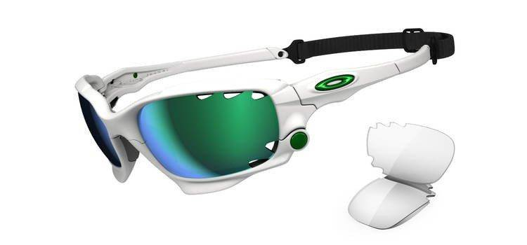 oakley sunglasses racing jacket matte white jade iridium clear rh o shop com