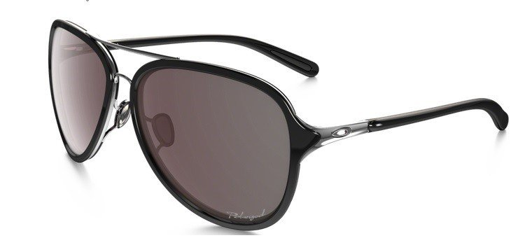 9e2ae8fa49 Oakley Sunglasses KICKBACK Satin Chrome OO Black Iridium Polarized  OO4102-04 OO4102-04