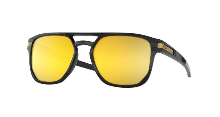 6b4c519cebe ... Oakley Sunglasses LATCH BETA Polished Black Prizm 24K Polarized  OO9436-04 ...