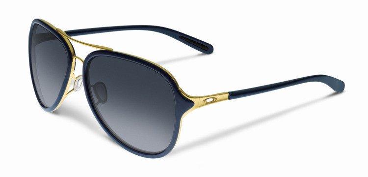 964a19c9d0 Oakley Sunglasses KICKBACK Gold Navy Black Grey Gradient OO4102-03 OO4102-03