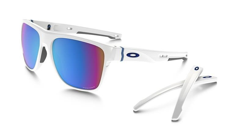 a0a5489f75 ... Oakley Sunglasses CROSSRANGE XL Polished White   Prizm Snow Sapphire  Iridium OO9360-08 ...