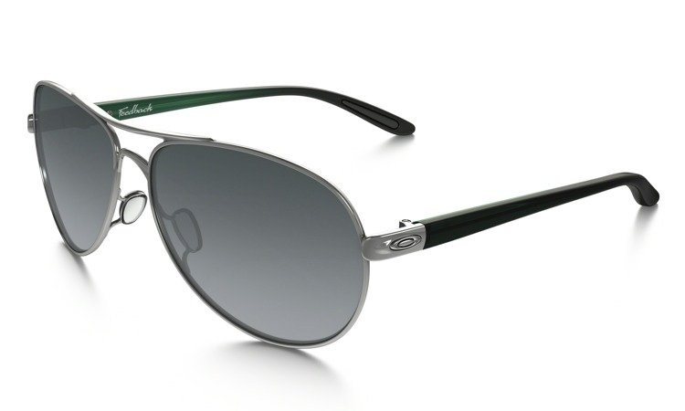 4602a312c11 OAKLEY Sunglasses FEEDBACK Polished Chrome   Black Gray Gradient OO4079-26  OO4079-26