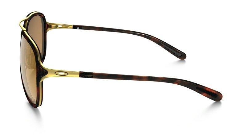 0336c1c4b7 OAKLEY Sunglasses KICKBACK Satin Gold Tortoise   Bronze Polarized OO4102-02  OO4102-02