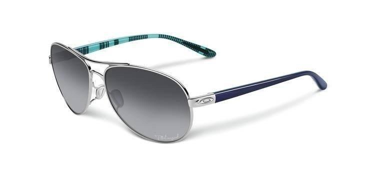 02d6be310c Oakley Sunglasses FEEDBACK Polished Chrome Grey Gradient Polarized OO4079-07  OO4079-07