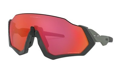 Oakley Sunglasses FLIGHT JACKET Matte Steel/Prizm Trail Torch OO9401-17