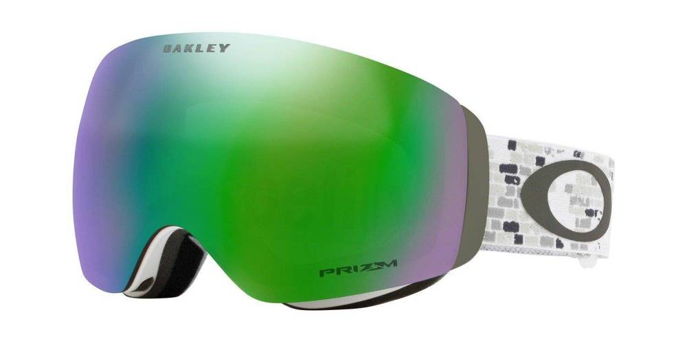 Oakley Gogle FLIGHT DECK XM LV SIG Snowed In Stealth / Prizm Snow Jade Iridium OO7064-71