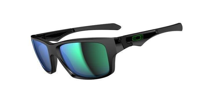 Oakley Sunglasses  JUPITER SQUARED Polished Black/Jade Iridium OO9135-05