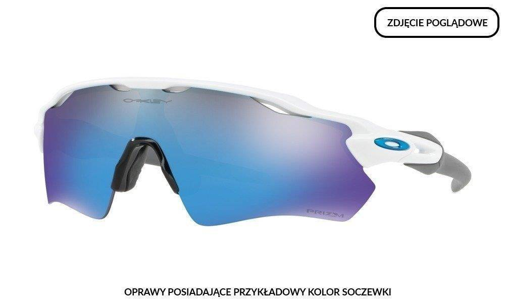 Sama Oprawa Radar EV Path Custom - Polished White / Blue Icon and Black Earsocks