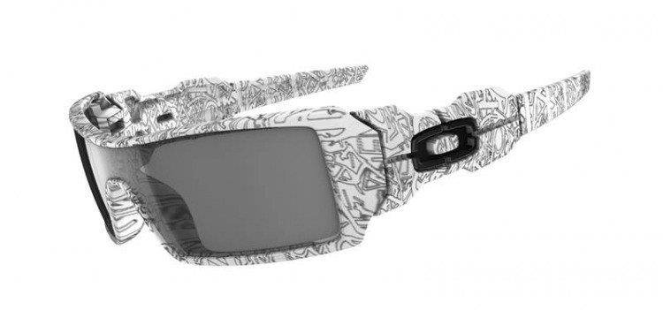 Oakley Oil Rig White/Text / Grey 03-461