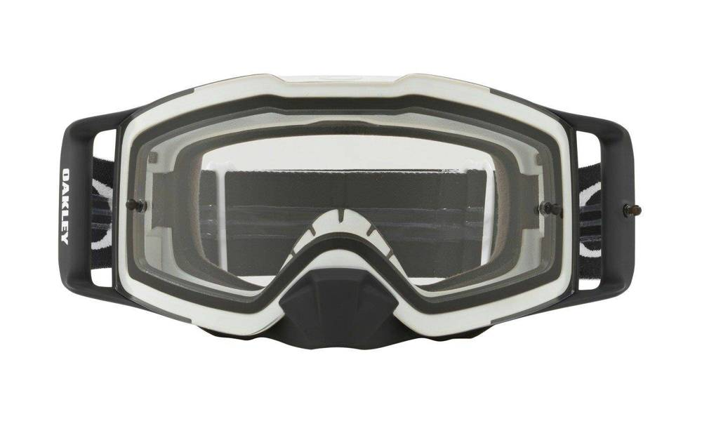 Gogle FRONT LINE MX/MTB Matte White Speed/Clear MX OO7087-05