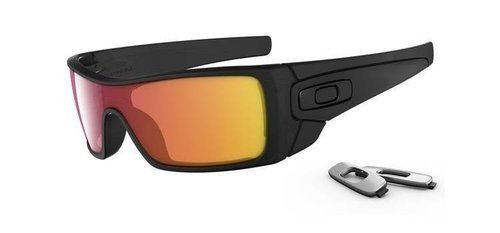 Oakley BATWOLF Matte Black Ink/Ruby Iridium OO9101-38