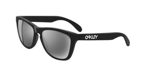 Oakley Sunglasses  Frogskins Matte Black/Black Iridium Polarized 24-297