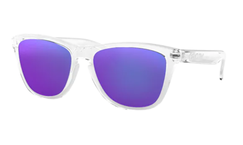 Oakley Sunglasses  Frogskins Polished Clear/Violet Iridium 24-305 - small1