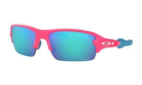740b06e4fc Oakley Sunglasses Junior FLAK XS Neon Pink Prizm Sapphire OJ9005-03