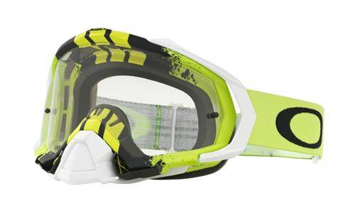 Gogle MAYHEM PRO MX/MTB Pinned Race Green Yellow/Clear OO7051-30